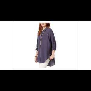 Free People Love Her Madly Button‑Up Top Size XS